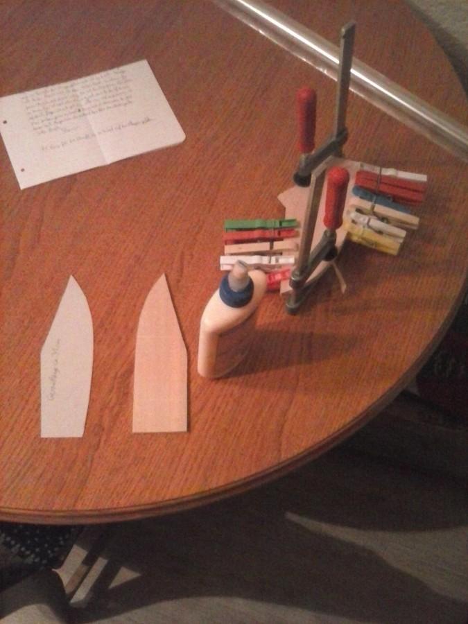 Teile meiner ersten Messerscheide