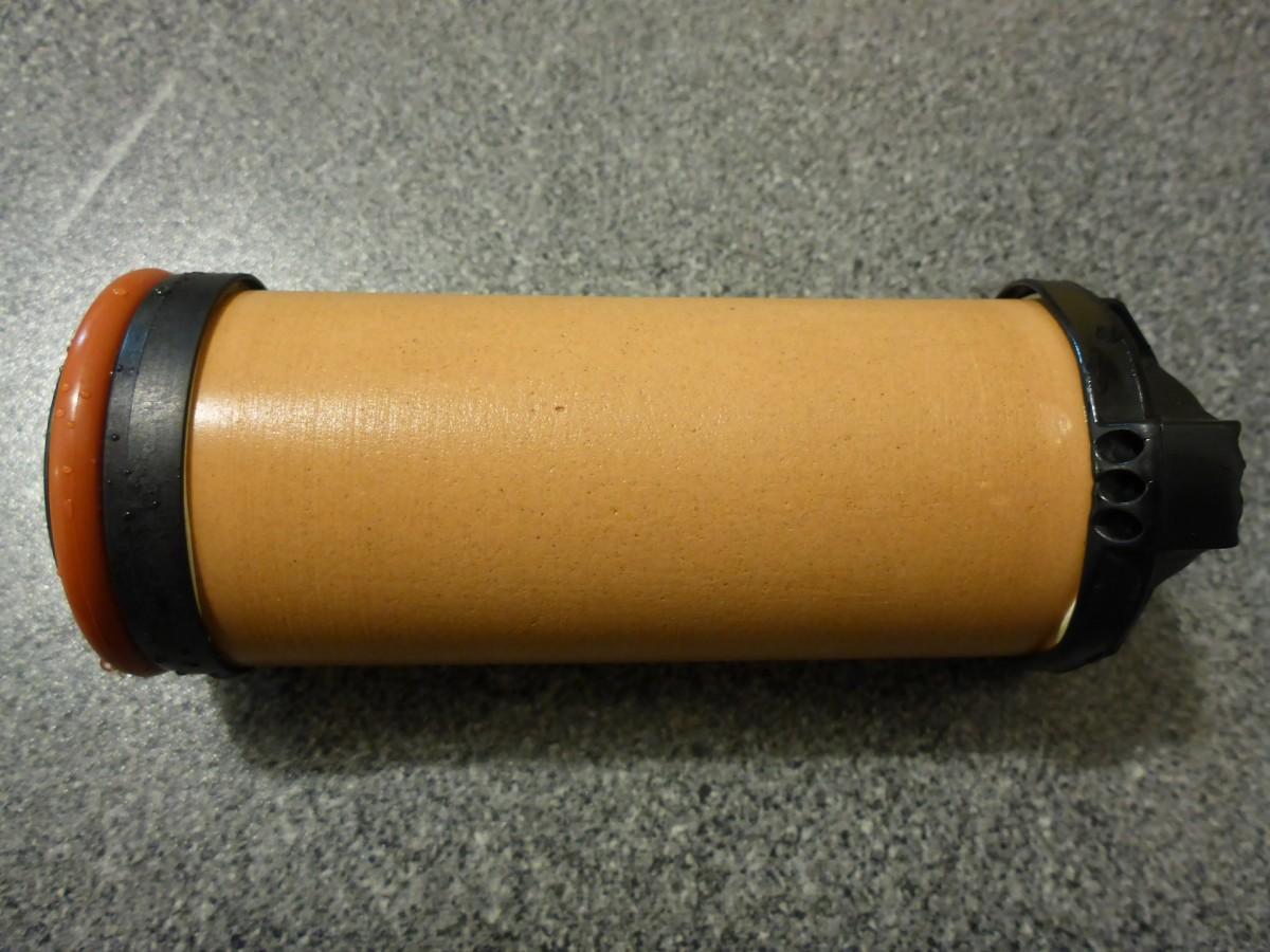 Wasserfilter 2µm Keramik-Aktivkohlepatrone gereinigt