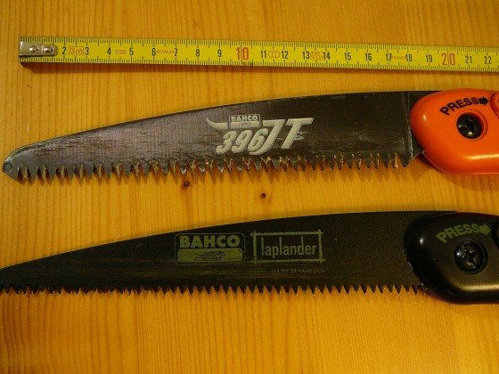 Vergleich Klappsägen Bahco 396 JT & XT 'Laplander'