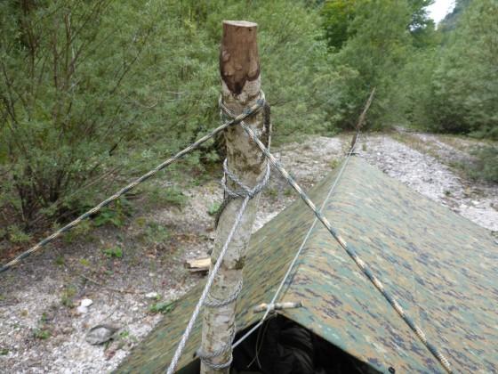 Tarp Setup ohne Bäume