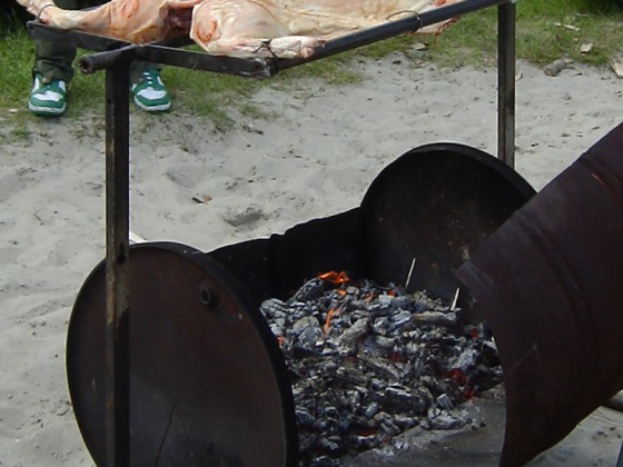 Spanferkel: Flunder, grillt